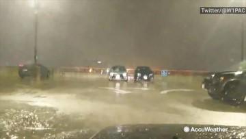 Heavy rains hammer Logan International Airport