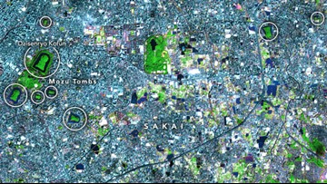 NASA Captures Massive Burial Site in Japan from Space