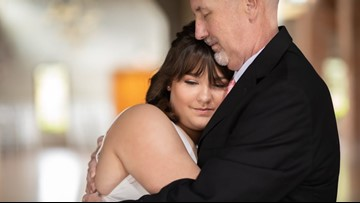 'Beauty in ashes': Daughters stage wedding photos with dying father