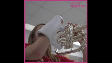 High school STEM student makes prosthetic for marching band member