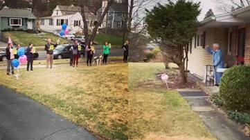 Social distancing birthday: This New York family celebrated a great-grandma's 95th from her front yard