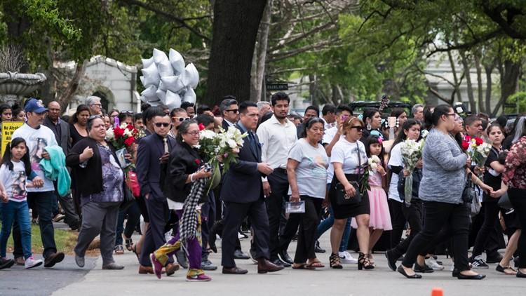 Pregnant Woman Slain-Baby Taken funeral procession