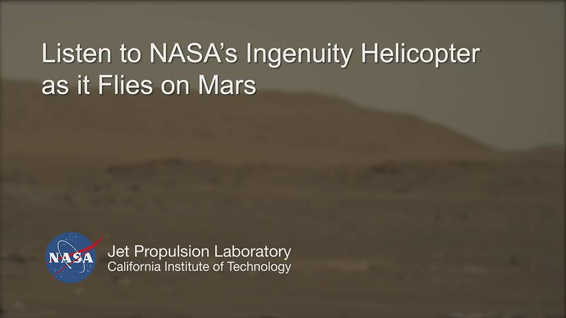 Mars Perseverance rover hears Ingenuity helicopter in flight