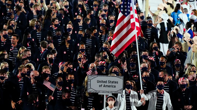 When does each country march during Olympics Opening Ceremony?