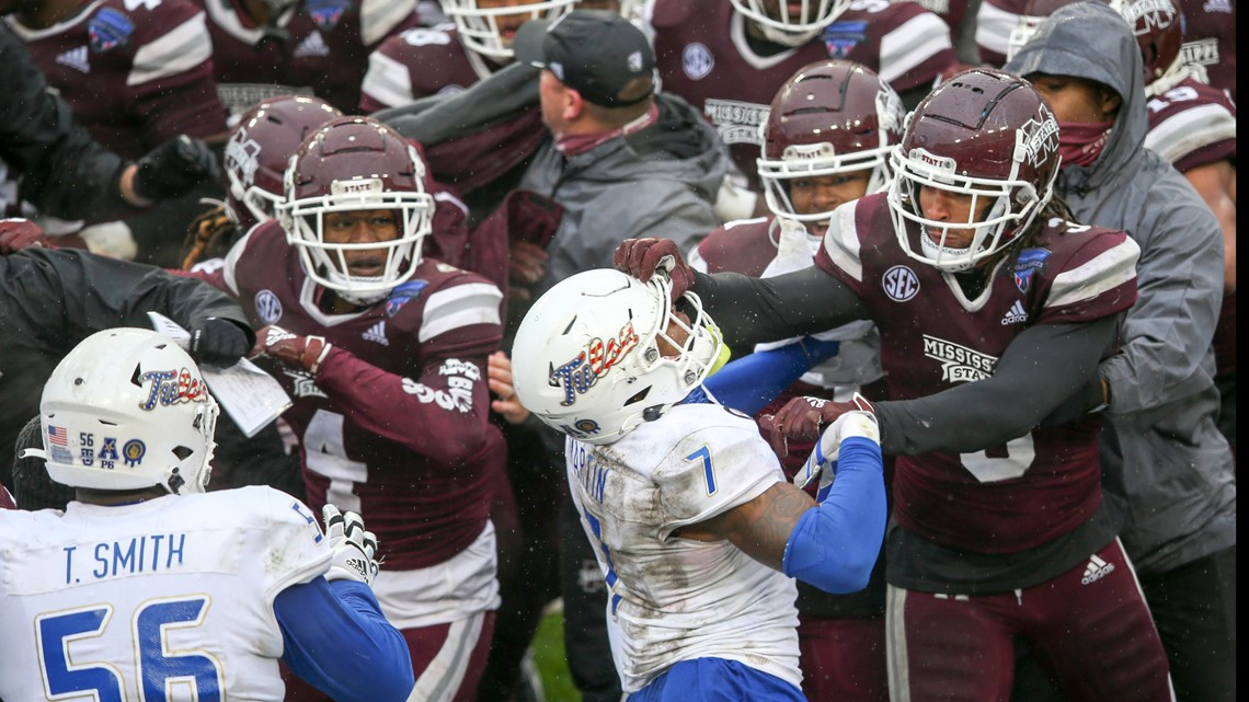 Mississippi St tops Tulsa in Armed Forces Bowl, brawl erupts