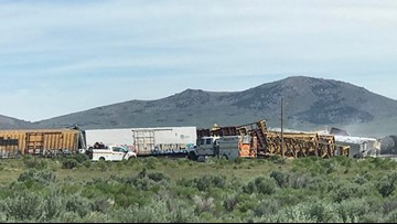 Train carrying munitions, explosives derails in Nevada
