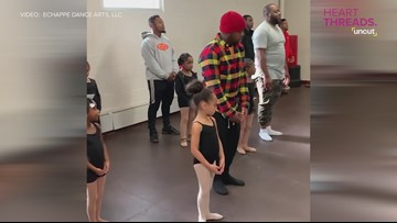Daddy-daughter ballet class