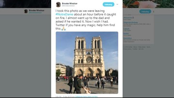 Woman finds family seen playing in one of the last images before Notre Dame fire