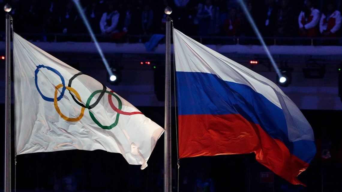 Russia banned from using its name, flag, anthem at next 2 Olympics