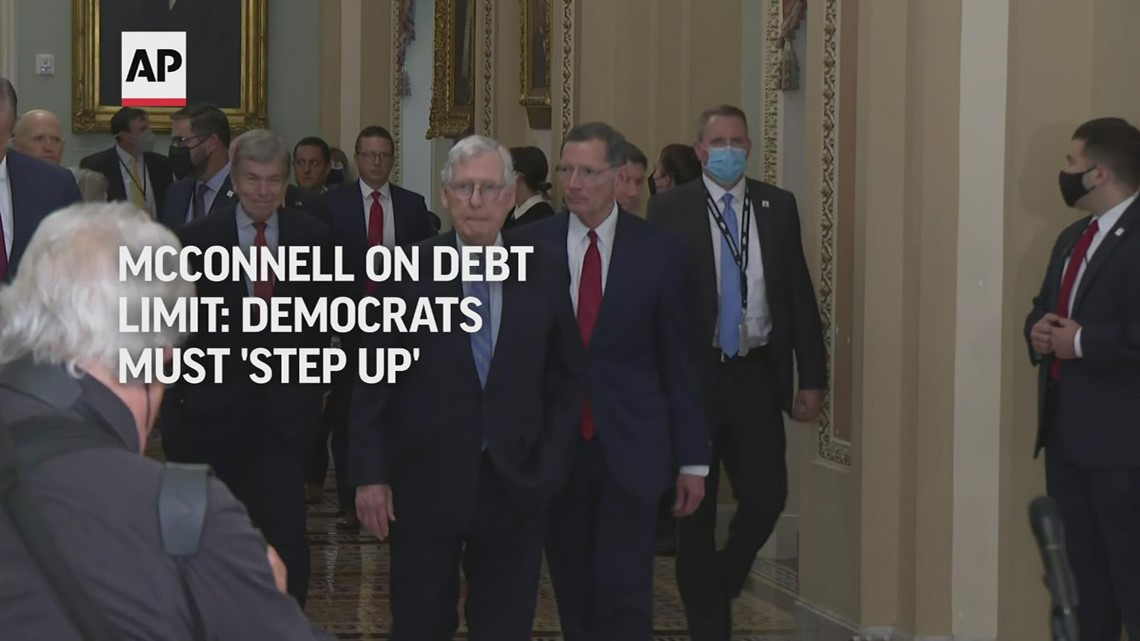 McConnell on debt limit: Democrats must 'step up'
