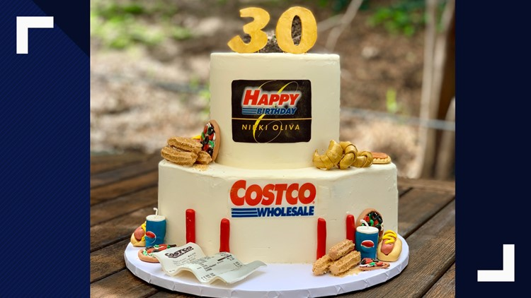 Phenomenal Bakers Amazing Costco Birthday Cake Includes Samples Churros Personalised Birthday Cards Veneteletsinfo