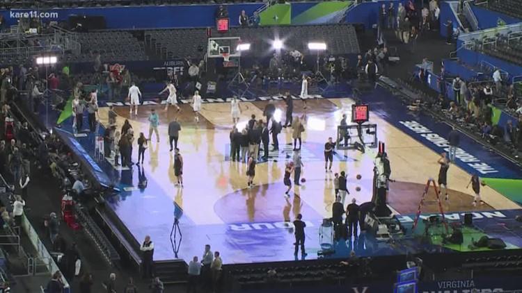 From football to basketball: Inside U.S. Bank Stadium's transformation