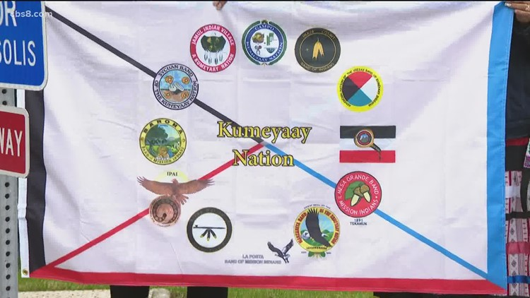 National City raises Kumeyaay Flag in honor of Indigenous Peoples Day