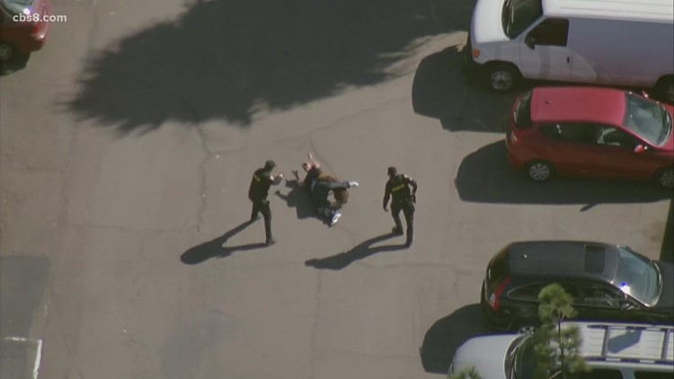 Chopper over capture of high-speed chase suspect in South Bay
