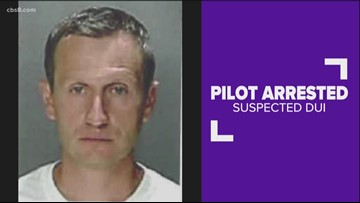 Pilot on San Diego-bound flight arrested suspected of DUI