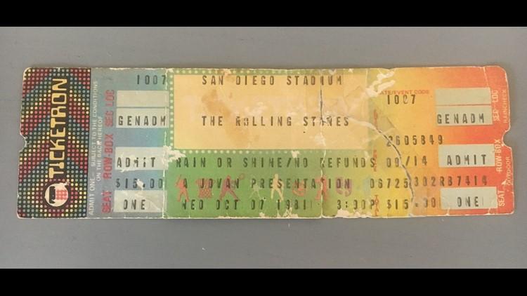 unused Rolling Stones ticket