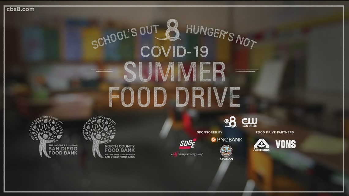 News 8 is teaming up with the San Diego Food Bank for Schools Out, Hunger's Not Food Drive