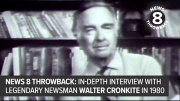 News 8 Throwback: In-depth interview with legendary newsman Walter Cronkite in 1980