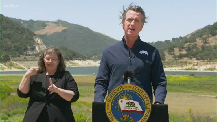 Governor Newsom addresses California's preparations to drought conditions