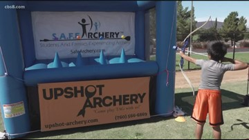 Groovin' with Garegnani takes a shot at archery tag