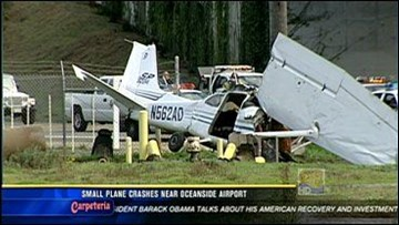 Small Plane Crashes Near Oceanside Municipal Airport   cbs8 com