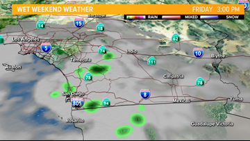 Storm to drop light rain in San Diego County throughout weekend