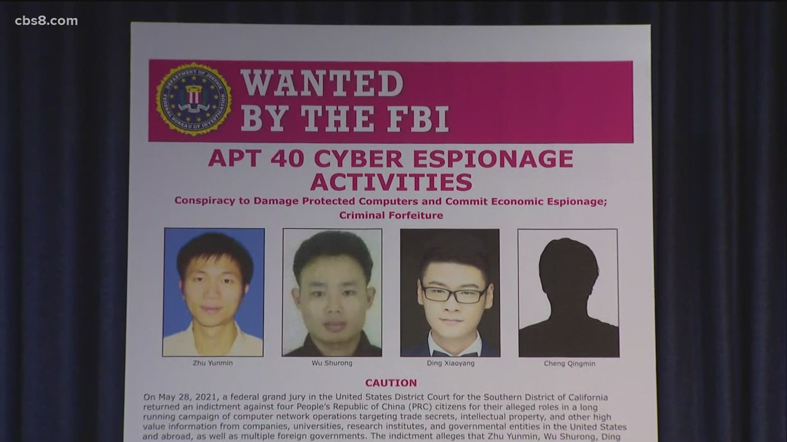 4 Chinese nationals charged with targeting U.S. companies in hacking campaign