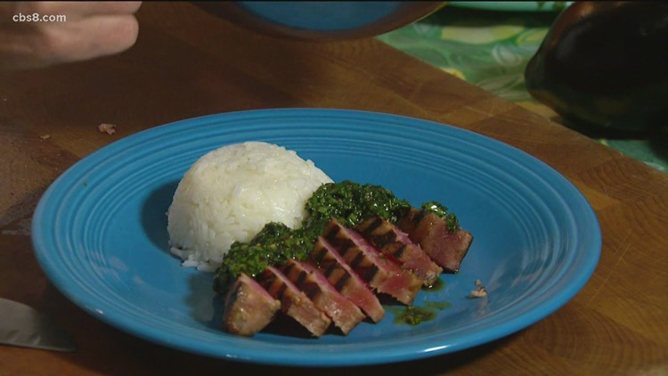 Cooking with Styles: Grilled tuna steaks with cilantro and basil
