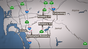 Series of 7-Eleven robberies ends with crash in National ... on 7-eleven careers, 7-eleven gas station locations, 7-eleven products, 7-eleven site plan, 7-eleven menu, 7-eleven history, bp locations map,