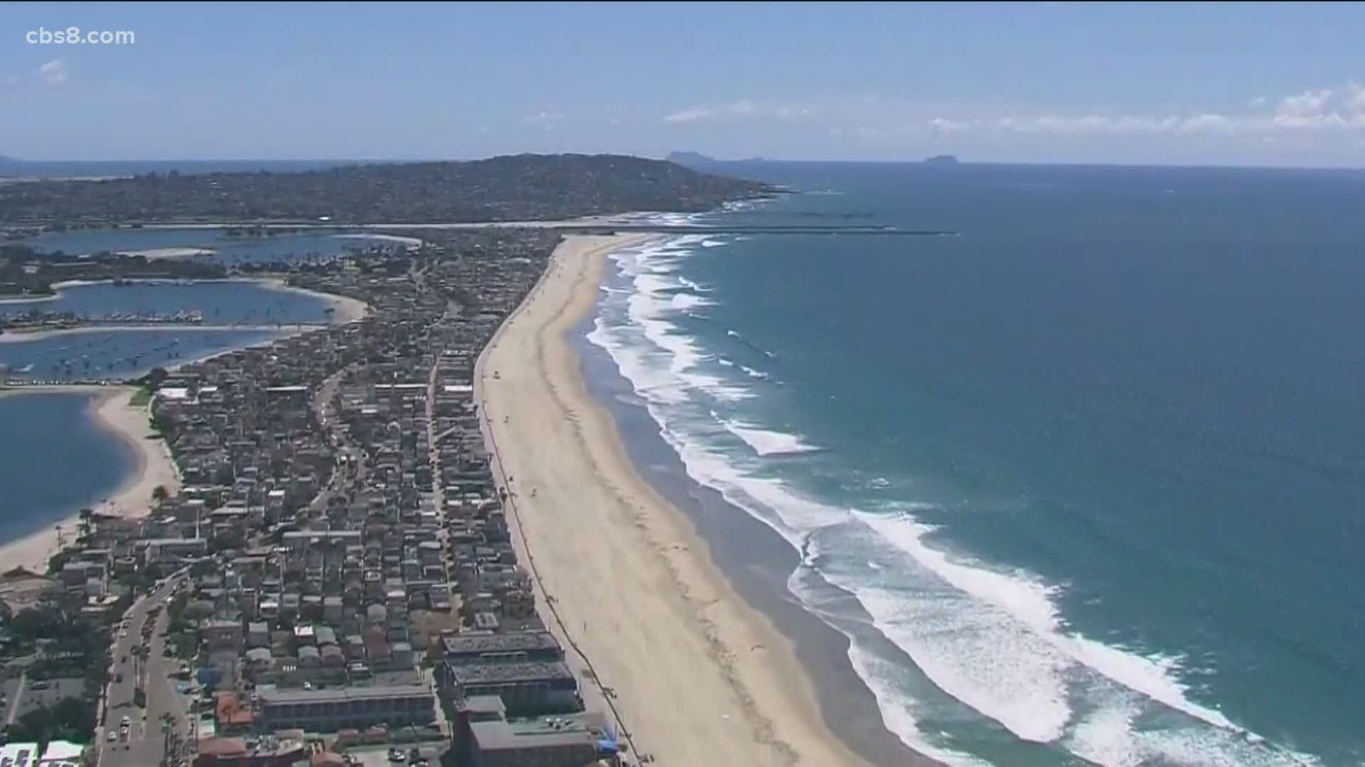 Some Beaches In San Diego To Open Monday For Passive Use Ocean Access Cbs8 Com