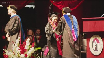 80-year-old graduates from San Diego State University