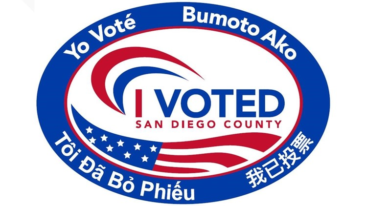 I voted sticker - new San Diego