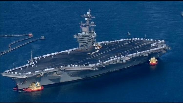 USS Carl Vinson returns from 3-month deployment