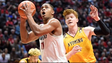 SDSU men's basketball remains undefeated after winning over Wyoming Cowboys