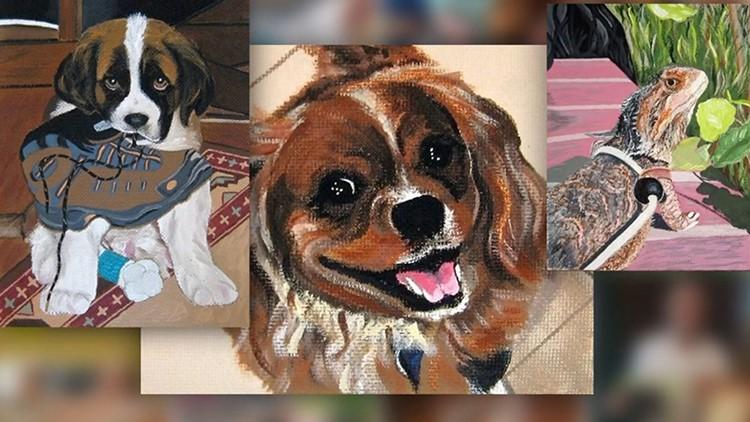 Lifelike textured pet portraits with Artist Jill Williams