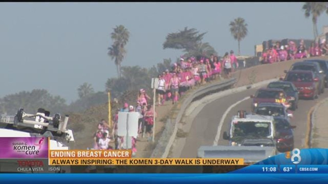 Day 2: Thousands participate in Komen 3-Day Walk to end breast cancer