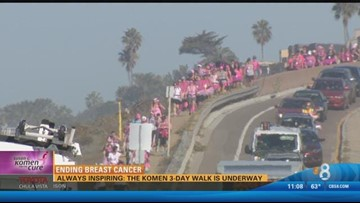 2015 Day 2: Thousands participate in Komen 3-Day Walk to end breast cancer