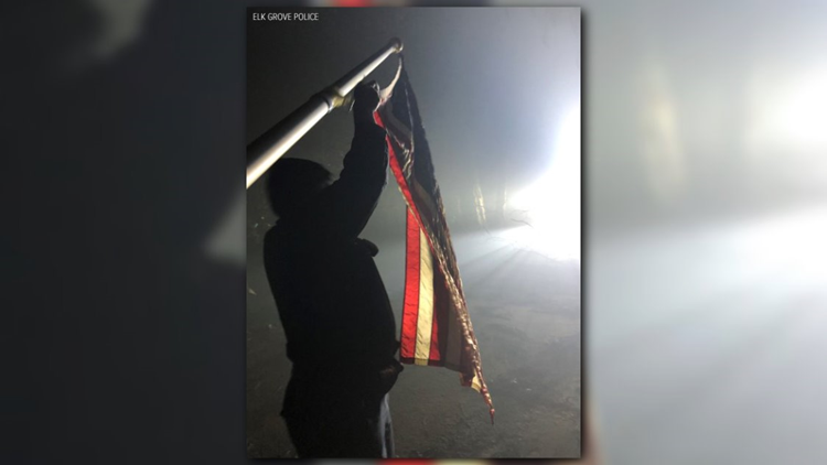 19d431c54cd42 Police find American flag in  almost perfect condition  among homes  destroyed by Camp Fire