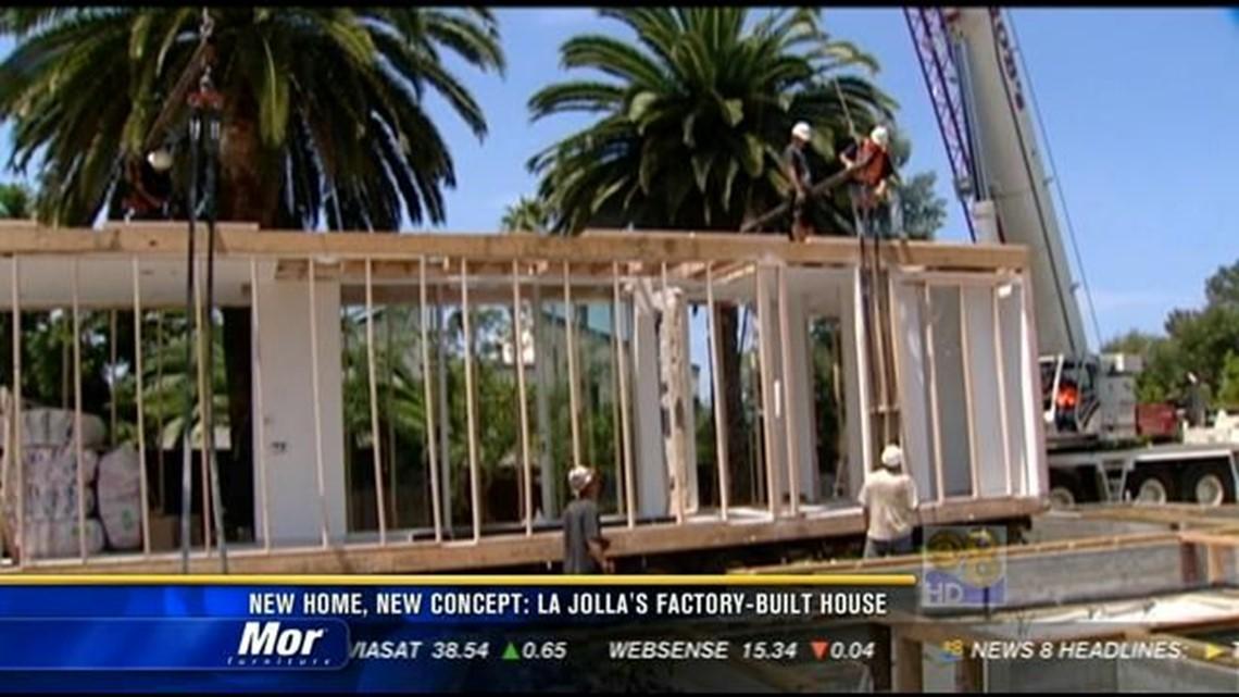New home, new concept: La Jolla's factory-built house | cbs8 com