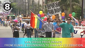 News 8 Throwback: San Diego Pride Parade from humble beginnings to vibrant celebration