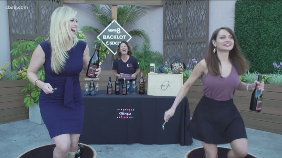 Annual grape stomp at Orfila Vineyards & Winery in Escondido