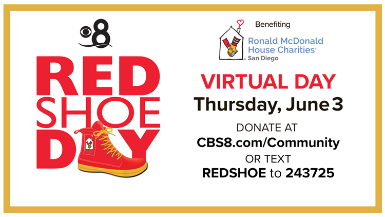 Ronald McDonald House Red Shoe Day is on Thursday