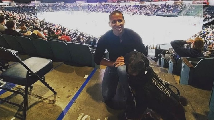 'It's got to be this dog'   Marine Corps vet finds comfort with service dog