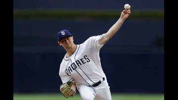 Rookie Lauer leads Padres to 4-1 win against Dodgers