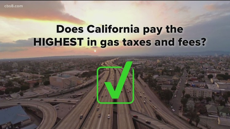 How much do Californians pay in taxes and fees on each gallon of gas?
