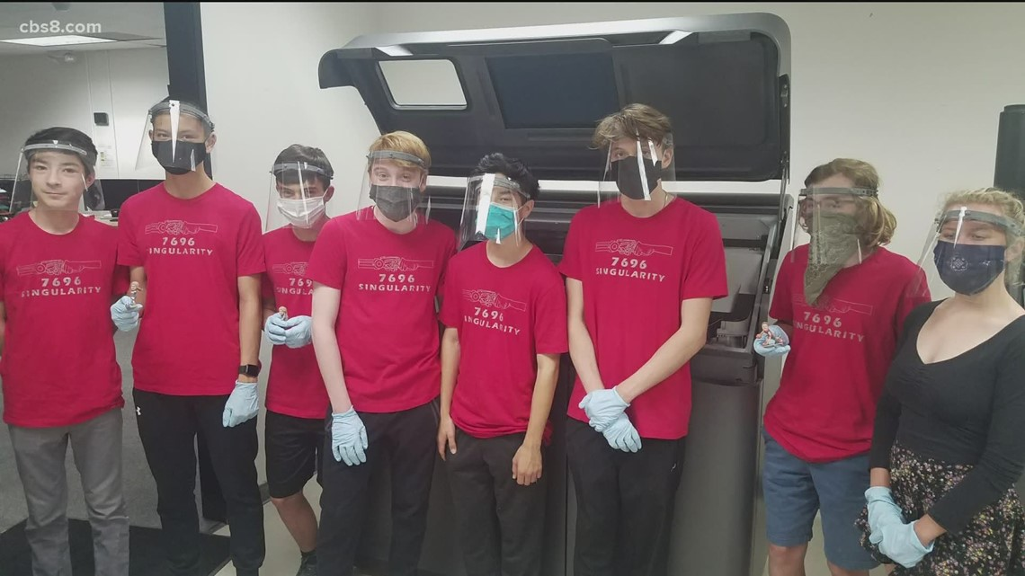 Innovate 8: San Diego high school students design 3D face shields for healthcare workers