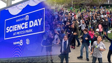 Baseball, science, and students! News 8 partners with San Diego Padres for Science Education Day
