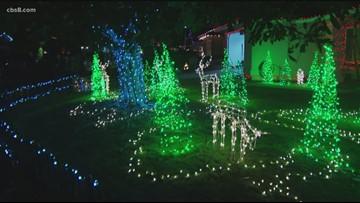 Christmas lights on display throughout San Diego