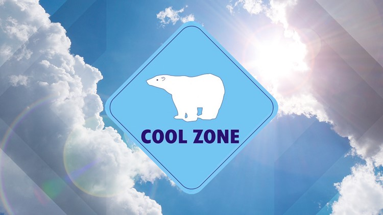 San Diego County cool zone locations
