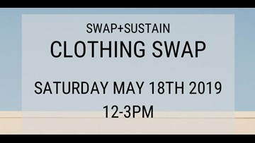 Learn how simple lifestyle swaps can make a positive impact at the 'swap + sustain Clothing Swap' in North Park this Saturday